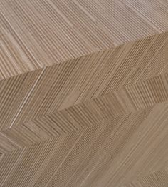Plexwood® Wooden veneer plywood tiles with abstract designs based on grids in architecture