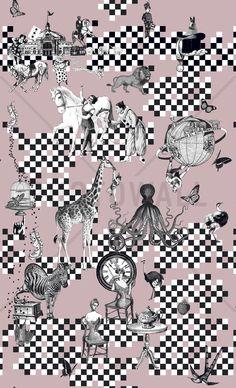 Circus Side Show - Pink - Wall Mural & Photo Wallpaper - Photowall