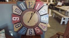 Beautiful rustic clock.