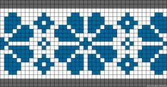A34037 - friendship-bracelets.net Tiny Cross Stitch, Cross Stitch Bookmarks, Cross Stitch Alphabet, Cross Stitch Flowers, Cross Stitch Designs, Cross Stitch Patterns, Square Patterns, Loom Patterns, Crochet Patterns