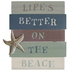 Profess your love for the beach with the 'Life's Better on the Beach' wall art.