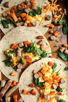 Butternut Squash Breakfast Wraps - And Instructions for Freezing and Reheating in a SNAP!