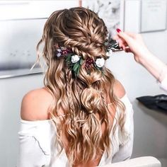 Trends how to get the perfect wedding hairstyle 70 ideas boho style bohohairstyle bridalhairstyle hairstyles hairstylesideas wedding weddingideas best half up half down hairstyles for everyday to special occasion Wedding Hair And Makeup, Hair Makeup, Boho Wedding Hair Half Up, Boho Bridal Hair, Hairstyle Wedding, Long Wedding Hairstyles, Boho Wedding Hair Updo, Boho Hairstyles For Long Hair, Bohemian Hair