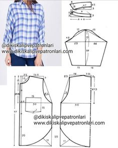 Clothing Patterns Shirt Patterns For Women Blouse Patterns Blouse Designs Free Sewing Sewing Patterns Free Sewing Tutorials Sewing Blouses Top Pattern Dress Sewing Patterns, Blouse Patterns, Sewing Patterns Free, Fabric Patterns, Clothing Patterns, Make Your Own Clothes, Diy Clothes, Clothes Women, Costura Fashion