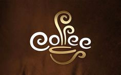 60 logotipos muy inteligentes que te inspirarán Coffee Shop, Coffee Logo, I Love Coffee, Coffee Cafe, Coffee Steam, Coffee Typography, House Coffee, Creative Typography, Coffee Lovers