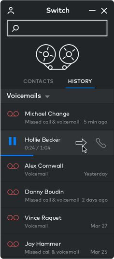 Visual voicemail for business
