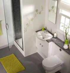 Decorate A Small Bathroom With Bath Mat Toilet And Shower Tray