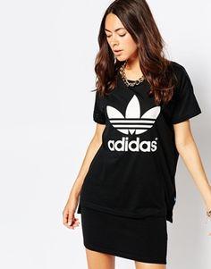 Adidas - T-shirt long avec logo