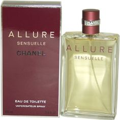 Chanel Allure Sensuelle Eau De Toilette Spray for Women, 3.4 Ounce by CHANEL. $139.06. SB08253980206. A Soft Oriental Floral edition of ALLURE fragrance Embraces you with fresh, timeless floral, woody & fruity scent Sensual with a blend of Vanilla & Amber Patchouli Warm & airy Sunny Spicy facet ? both fresh & provocative Diffuses the refined mystery of the Orient The quality of this unboxed item will be as fresh & genuine as the original packing - Allure Sensuelle