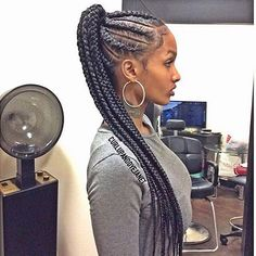 Cornrows popping! @iam_queenroe ❤️