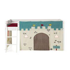 Tente de lit mi-haut pour enfant - Thème chevalier Bleu, marron - Chevalier - Les gigoteuses et tours de lit - Linge de lit enfant - Linge de maison - Décoration d'intérieur - Alinéa