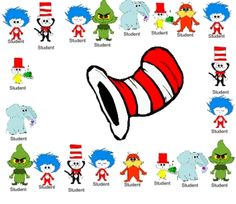 FREE!! Dr. Seuss SMARTboard attendance file  For IF I ever get a smartboard