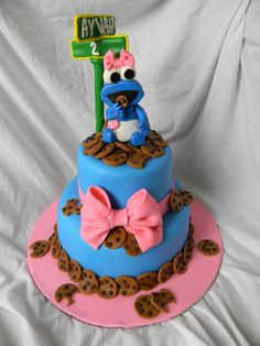 """cookie monster"" cake 