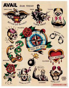 Avail Friday Tattoo flash - Old School Flash - Tattoo Hawaiianisches Tattoo, Leg Tattoos, Sleeve Tattoos, Tattoos For Guys, Xoil Tattoos, Octopus Tattoos, Arabic Tattoos, Arabic Henna, Dragon Tattoos