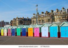 Beach huts in Brighton Hove