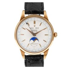 "ROLEX ref. #8171 Triple Calendar ""Moon Phase""  Switzerland  1950s"