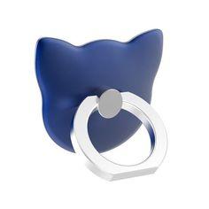 Powstro Finger Ring Holder Mount Universal 180 Degree Grip Desk Stand Cute Cat Pattern Grip Phone Holder For All Cellphone Durable Modeling Mobile Phone Holders & Stands Mobile Phone Accessories