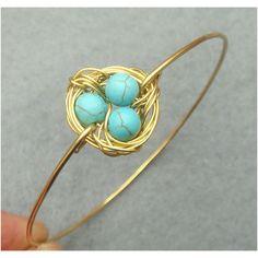 Another reason that I love Etsy.  Robin's nest bracelet for spring.