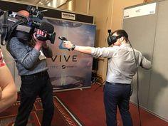 .@SkyNewsStu is a natural at the bow & arrow! #virtualreality @htcvive @VRWorldCongress