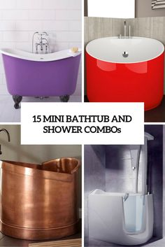 Mini bathtubs and mini bathtub shower combos go a long way to mitigating the…