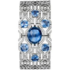 SECRET WATCH  Quartz, white gold, diamonds, sapphires. Cartier, 2013