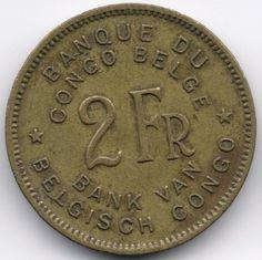 Belgian Congo 2 Francs 1947 Veiling in de Kongo,Afrika,Munten,Munten & Banknota's Categorie op eBid België