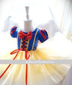 Snow White Costume Baby dressbaby by MyBeautifulGarden on Etsy, $45.99