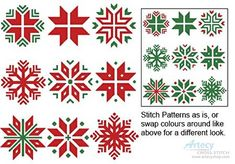 Christmas Snowflake Set 1 cross stitch chart from Artecy Cross Stitch Diy Christmas Fireplace, Diy Christmas Snowflakes, Snowflake Craft, Cross Stitch Christmas Ornaments, Snowflake Decorations, Christmas Embroidery, Christmas Cross, Christmas Diy, Snowflake Embroidery