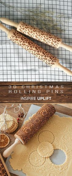 ★★★★★ - Christmas Rolling Pin Finally, an easy way to prepare the most beautiful and original Christmas cookies in just minutes! This unique, Christmas Rolling Pin would make a perfect Christmas gift for your wife, mother, friends (women or men) 3d Christmas, Christmas Party Games, Christmas Gifts For Women, Perfect Christmas Gifts, Christmas Goodies, Christmas Desserts, Holiday Treats, Christmas Treats, Christmas Baking