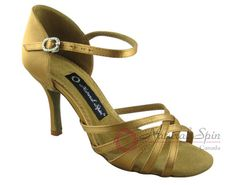 Natural Spin Signature Latin Shoes(Open Toe):  H1138-07a_GoldES
