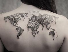 tatouage carte du monde 2