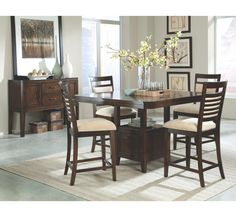 standard furniture pendleton counter height table w/4 stools in