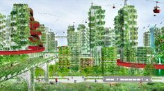 """China plans its first """"Forest City"""" to fight air pollution Forest Cities by Stefano Boeri – Inhabitat - Green Design, Innovation, Architecture, Green Building Nanjing, In China, Popup House, Vertical Forest, Eco City, Forest City, Urban Architecture, China Architecture, Concept Architecture"""