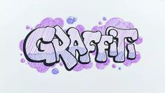 How to Draw Graffiti Letters. Though the style you choose for your graffiti letters is ultimately up to you, there are a few standards that go for all graphics. Method one outlines a simple, foolproof way of creating vivid, stylized. Graffiti Text, Graffiti Art Drawings, Wie Zeichnet Man Graffiti, Word Drawings, Graffiti Lettering Fonts, Easy Drawings, Hand Lettering, How To Draw Graffiti, Mothers Day Crafts