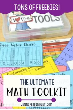 Looking for math tools to help your students succeed? Check out the ultimate math toolkit with tons of freebies to help get you started! Math Resources, Math Activities, Educational Activities, Math Games, Teaching 5th Grade, Teaching Math, School Lessons, Math Lessons, Second Grade Math