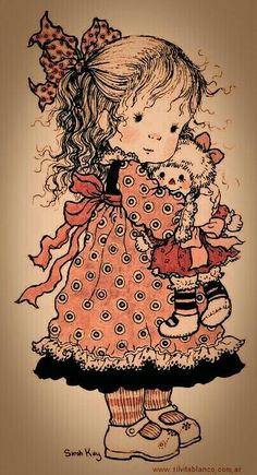 Sarah Key, Retro Images, Cute Images, Cute Pictures, Holly Hobbie, Illustrations Vintage, Stitch Book, Raggedy Ann And Andy, Decoupage Vintage