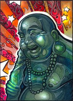 Buddha gets a makeover in this pop art illustration by Tim Shumate Buddha Kunst, Buddha Zen, Buddha Peace, Pop Art, Art Photography, Street Art, Illustration Art, Illustrations, Wayfarer