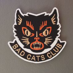 Bad Cats Club  Misery Patch by BadCatsClub on Etsy, £8.50 #Patch #Halloween  Stop by my Etsy Shop: www.etsy.com/shop/TeoldDesign