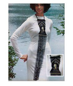 Vintage 1970s Macrame Necklace Pattern Knee Length Fringe Bib Collar PDF. 4.00, via Etsy.