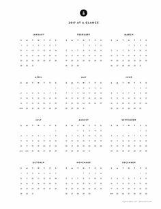 Image result for minimalist calendar 2017