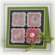 Shimmery Pink Inchines by Beate - Cards and Paper Crafts at Splitcoaststampers