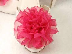 Tutorial How to make Easy Fabric Flower Rose, DIY, Variant #1