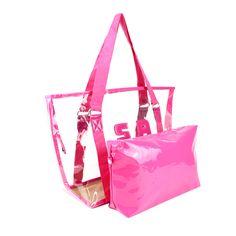 Wholesale Bags Handbags Famous Brand Beach Bag Jelly Candy Color Bag Women Tote PVC Waterproof Purse Bolsas Office Handbags