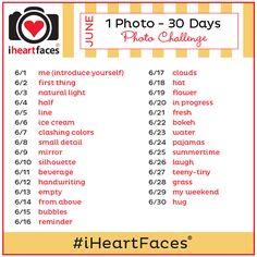 June Photo Challenge - I Heart Faces - 1 Photo - 30 Days Photography Challenge, Photography Projects, Photography Tutorials, Photography Tips, Photography Business, Travel Photo Album, Travel Photos, 30 Days Photo Challenge, June Challenge