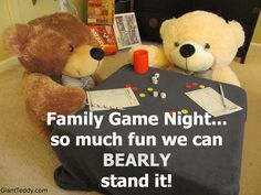 a7ccafe6df2 Family game night fun! Why not invite a bear  giantteddy.com