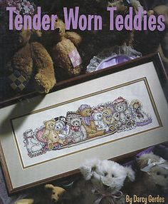 Tender Worn Teddies Cross Stitch by artist Darcy Gerdes for Leisure Art