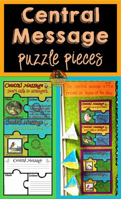 Looking for a fun way to teach Central Message to your students? Use these puzzles to help students identity and match a lesson or moral from 10 folktales and 10 fables. Then have the students provide the evidence to finish the puzzle! Come check out this paid resource now!