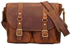 Leather Satchel Book Bag For Men