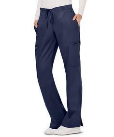 Cherokee Workwear Revolution Women's Petite Cargo Scrub Pant - XXS - Navy Nursing Wear, Nursing Clothes, Scrubs Uniform, Scrub Jackets, Tall Pants, Petite Pants, Scrub Pants, Drawstring Pants, Fashion Pants