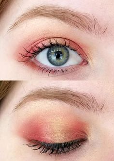 One of my favorite looks to do-- red and light gold; CCW